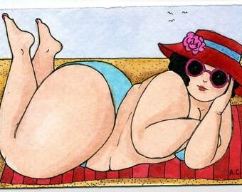Cute BBW in Bikini Bathing Beauty a3