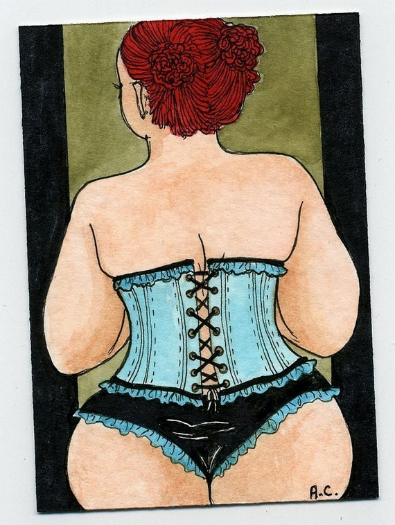 Lady in Blue Corset