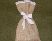 Burlap with Lace Favor Bags