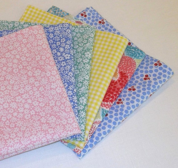 Pretty Pastel Napkins - set of 6