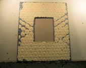 TIN CEILING Picture Frame 8x10 Shabby Recycled chic S-219