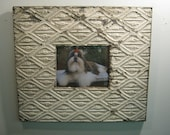 TIN CEILING Picture Frame 8x10 Shabby Metal Recycled chic S 526-12