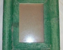 SHABBY ARCHITECTURAL SALVAGED Recycled Wood PHOTO Picture Frame VINTAGE S25138