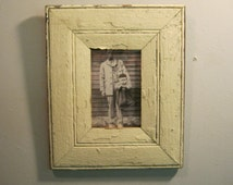 SHABBY ARCHITECTURAL SALVAGED Recycled Wood Photo Picture Frame 4 X 6 Vintage s 519-12