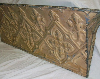 Vintage 4 Ft. RECYCLED Shabby TIN CEILING Chic Shelf S23687 Gothic