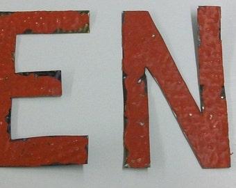 Reclaimed Tin Ceiling 5 inch Letters J E N N S1592