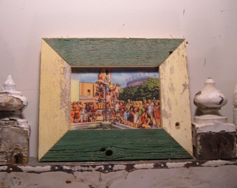 RECLAIMED WOOD Picture Frame 5x7 Shabby Recycled Chic s1968 From RecycledRelics