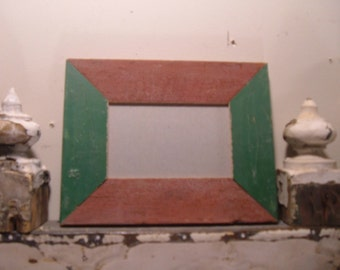 RECLAIMED WOOD Picture Frame 4x6 Shabby Recycled CHIC s1998