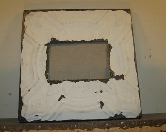 AUTHENTIC Tin Ceiling 4x6 Picture Frame RECLAIMED Photo S 351