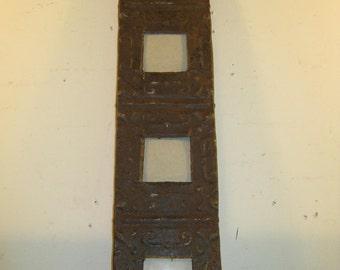 AUTHENTIC Vintage Tin Ceiling Quad Four Picture Frame RECLAIMED Photo S389