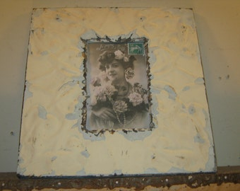 AUTHENTIC Tin Ceiling 4x6 Picture Frame RECLAIMED Photo S-477
