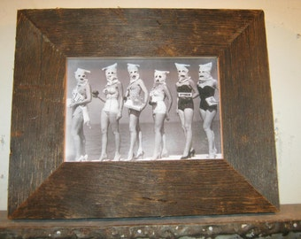 SHABBY ARCHITECTURAL Chic Salvaged Recycled Barn Wood Photo Picture Frame 5x7 S 178-12