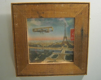 SHABBY ARCHITECTURAL Chic Recycled Wood Photo Picture Frame 8x8 S 285-12