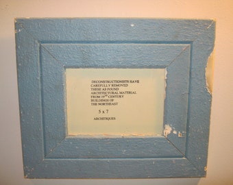 Reclaimed Wood Salvaged Picture Frame 5x7 NY- Salvage S-310-12