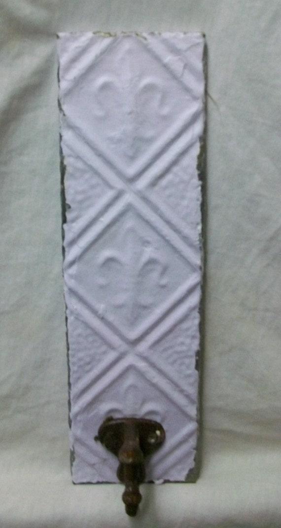 Fleur de lis tin ceiling tile coat hat rack new york salvage 1 - Fleur de lis coat hook ...