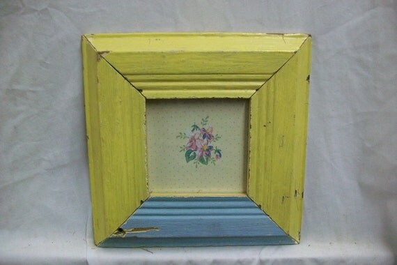 SHABBY Architectural Salvaged Recycled Wood PHOTO Picture Frame VINTAGE S1567