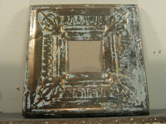 AUTHENTIC Tin Ceiling 3x3 Picture Frame RECLAIMED Photo S 332