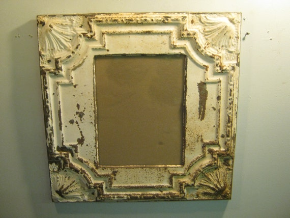 TIN CEILING Metal Picture Frame 11x14 Shabby Recycled chic S 524-12