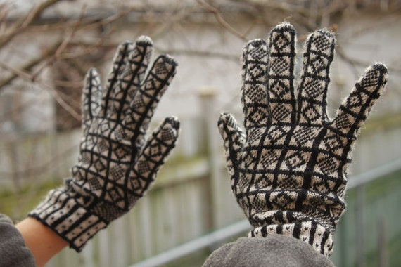 Wool Sanquhar Gloves (Lady Sized)