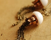 LAST PAIR - the clockwork jellyfish (pink) - steampunk inspired chain tentacle jellyfish earrings