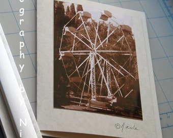 Remember the Ferris  Wheel / 3 Greeting Cards