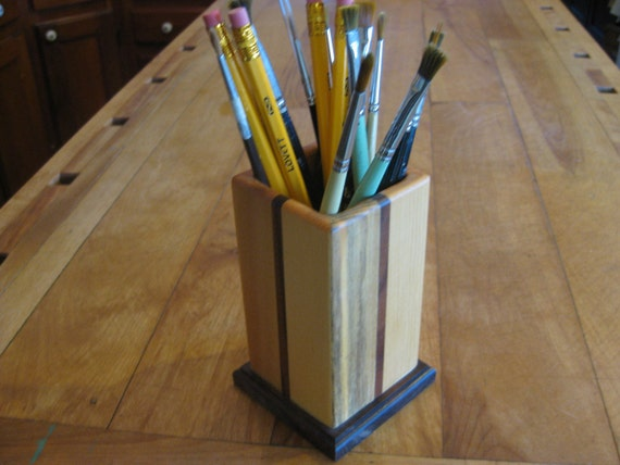 SALE  handmade pencil holder office desktop