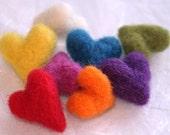 Needle Felted Heart Beads