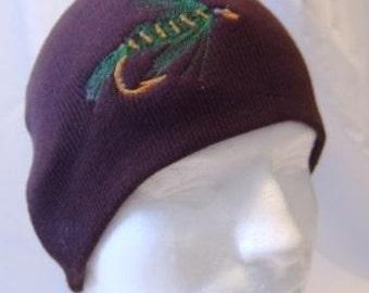 Ida May Fishing Fly Lure Beanie Skullcap Hat