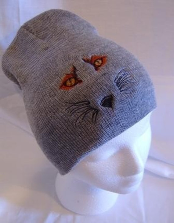 Fox Eyes Beanie Skullcap Hat