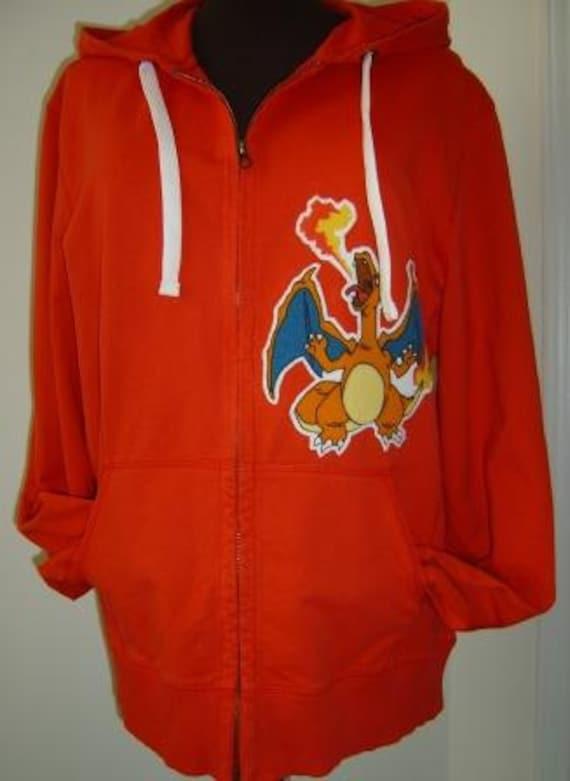 Fire Charizard Pokemon Red Unisex Hoodie Jacket