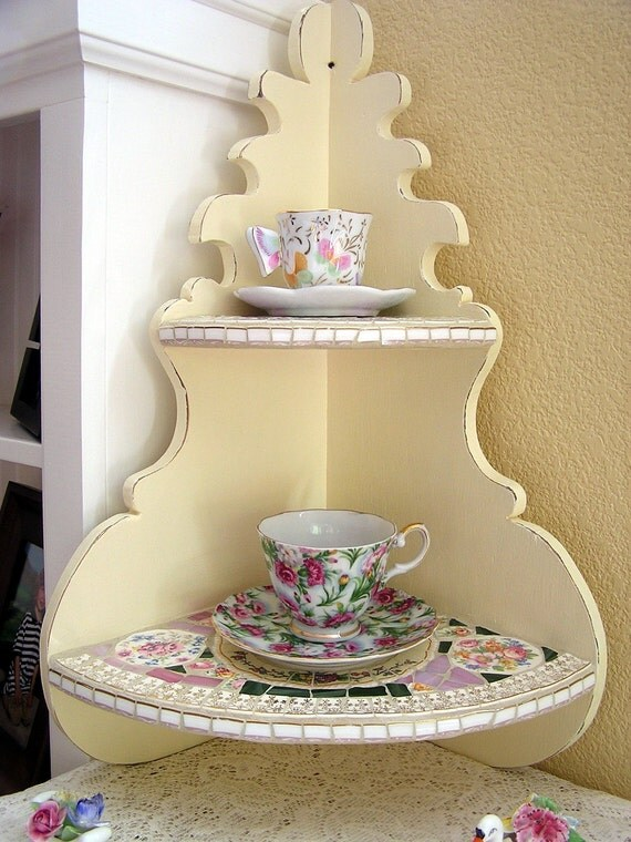 shabby chic home decor items items similar to shabby chic home decor mosaic wall shelf 13054