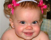 The Original Baby Ponytail Faux Pigtail Fake Hair Headband - Bebe Doos Perfect Ponies- Baby Dos- PATENTED