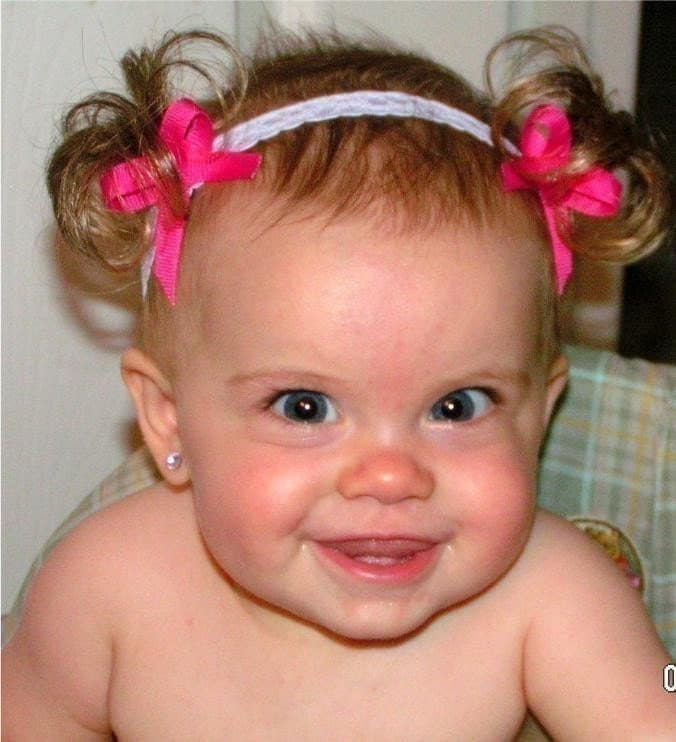 The Original Baby Ponytail Faux Pigtail Fake Hair Attached
