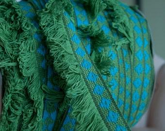 Mod Hippie Fringe - 3 yards Vintage Trim New Old Stock  60s 70s Turquoise Avocado Green Geometric