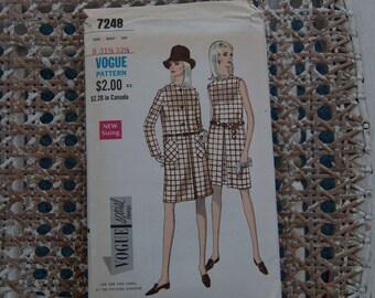 Vogue 7248 Vintage Pattern - Bust 31 1/2 Sz 8 Jacket & Dress Complete 1960's