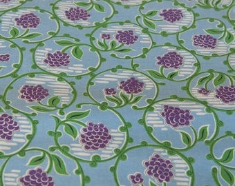 Spring Flowers  - Vintage Fabric New Old Stock Juvenile 50s 34 in wide Hyacinth Daisies