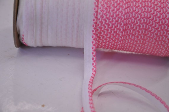 Pretty Pink Scallop Edging  - 3 yards Vintage Fabric Embroidered Juvenile Trim New Old Stock