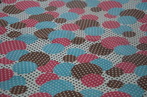 Dots Dots and More Dots - NOS Vintage Fabric Mod Juvenile 60s 70s