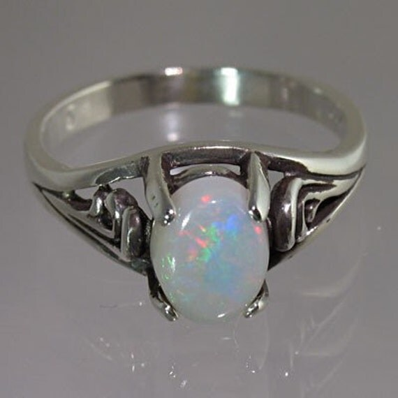 SALE PRICED NOW  Fabulous Genuine Opal 1.02 carats Handset in solid .925 Sterling Silver Ring  FREE gift box, FREE gift wrap, FREE shipping