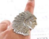 NEW - Ephraim Black  - SOLDERED - Antique Sterling Silver Filigree Ring - American Brass