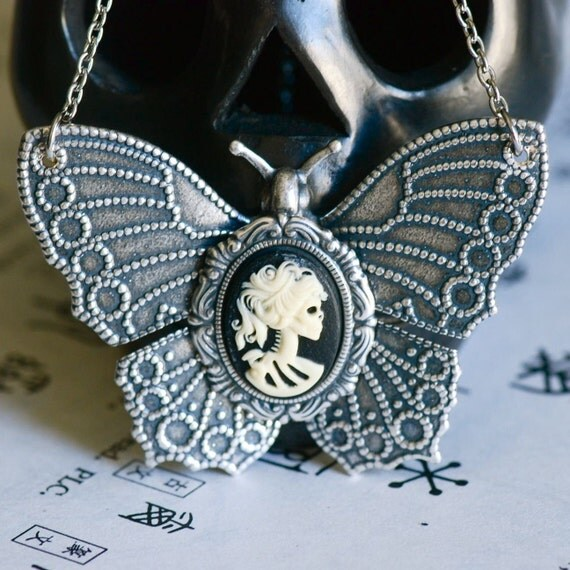 Miss Skeleton Butterfly necklace - LIMITED
