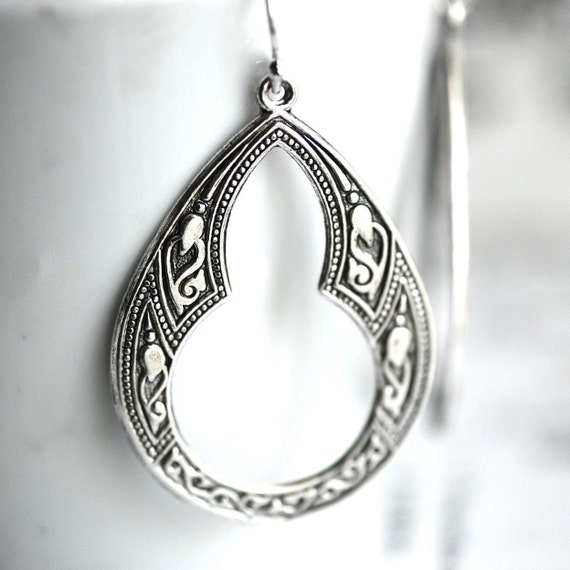 NAEVIA Earrings - Solid Sterling Silver .925 Ear Wire - Made in USA Findings - Large