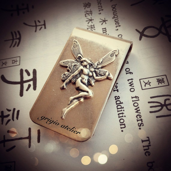 NEW - Titania Money Clip - Fairy Stamping Made in USA components