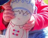 Prince Fergus - Linen doll plush toy, Nursery Decor