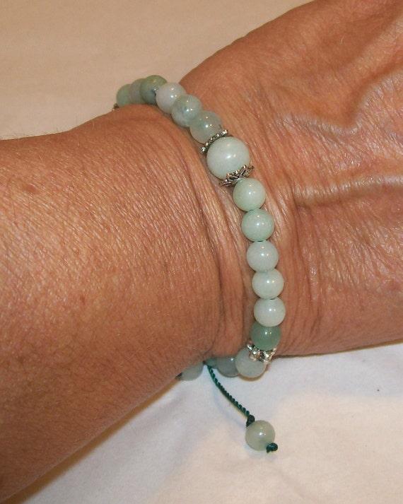 Sea Foam Green Mala Japa Prayer Bracelet