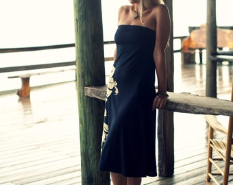 tropical honeymoon black beach sundress