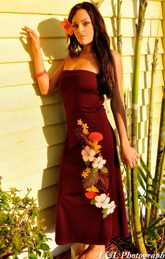 Marsala Hawaiian Sundress