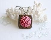 The Berry Picker's Heart - necklace, raspberry, mulberry, berry picking