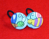 Quirky Flying Critters Ponytail Holders - Set of Two