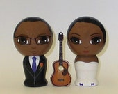 Custom Wedding Cake Toppers with Guitar